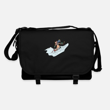 Deep Snow Cat on ski in deep snow - Shoulder Bag