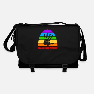 Democrat Black Lives Matter - rainbow - anti racism - Shoulder Bag