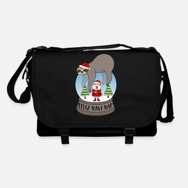 Santa Sloth snow globe Feliz Navidad Feliz Navi Nap - Shoulder Bag