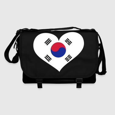 Südkorea Herz; Heart South Korea - Schoudertas