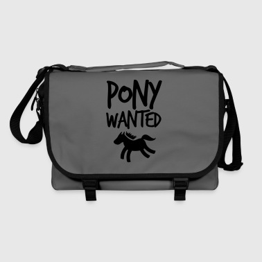 pony wanted with cute little horse and funky font  - Shoulder Bag