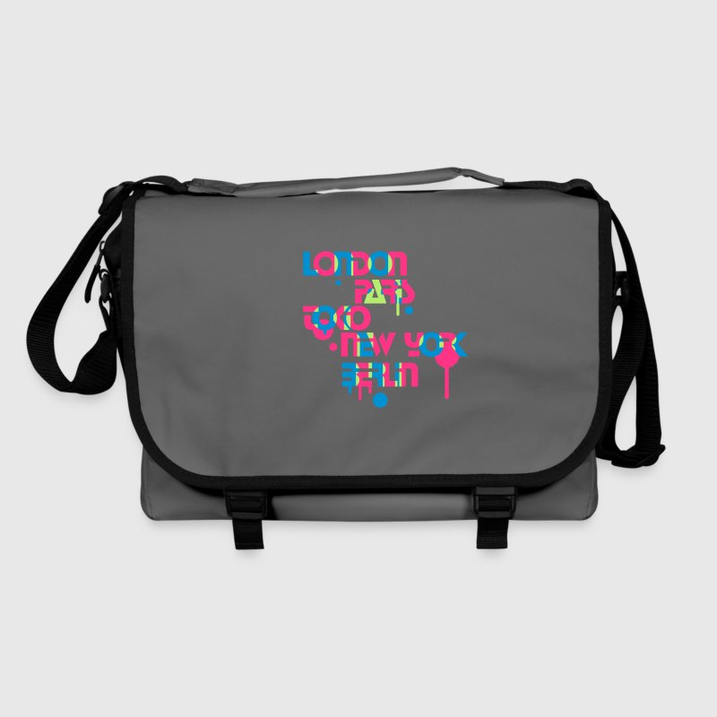 five cities, London, Paris, Tokyo, New York, Berlin, - Shoulder Bag