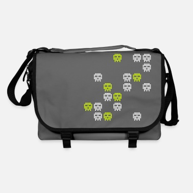 Retro Gaming pixel skull game shot - Shoulder Bag