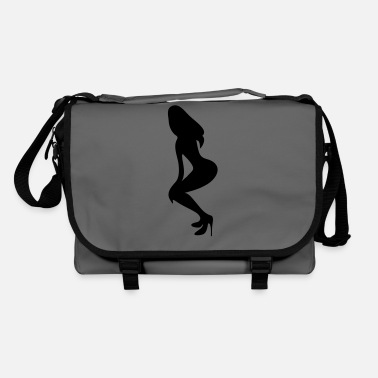Long Underwear ۞»♥Vector Sexy Wasp-waisted woman on Stilettos♥ - Shoulder Bag