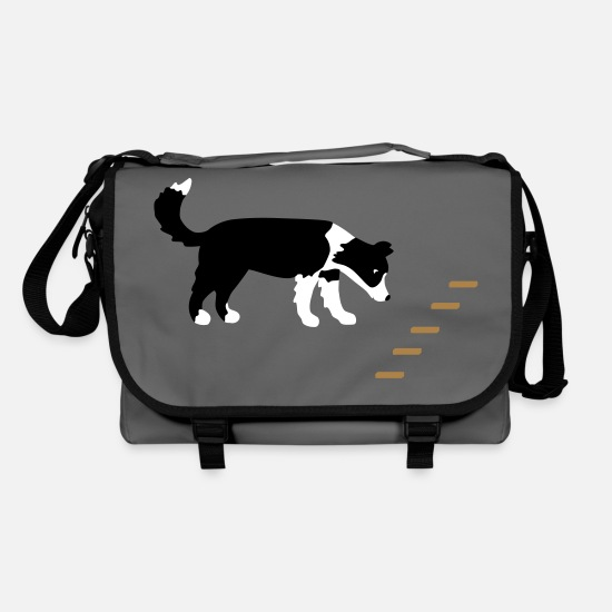 Cute Dog Bags & Backpacks - Obedience 1 - Shoulder Bag graphite/black