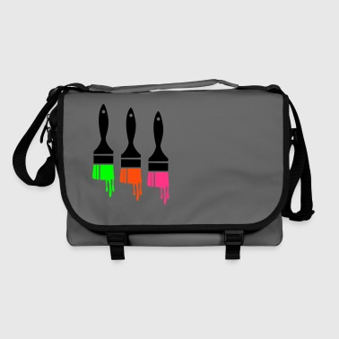dripping paint brush - Shoulder Bag
