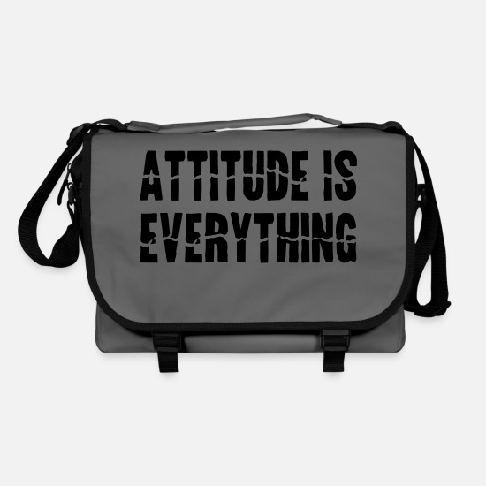 Fitness Bags & Backpacks - Attitude Is Everything - Shoulder Bag graphite/black