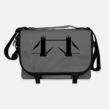 tower bridge outline - Shoulder Bag
