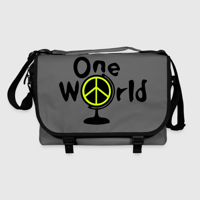 One world peace symbol earth globe - Shoulder Bag