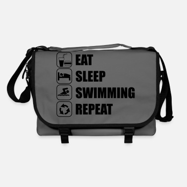 Open Eat Sleep Swimming Repeat - Shoulder Bag