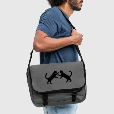 Cat fighting - Shoulder Bag