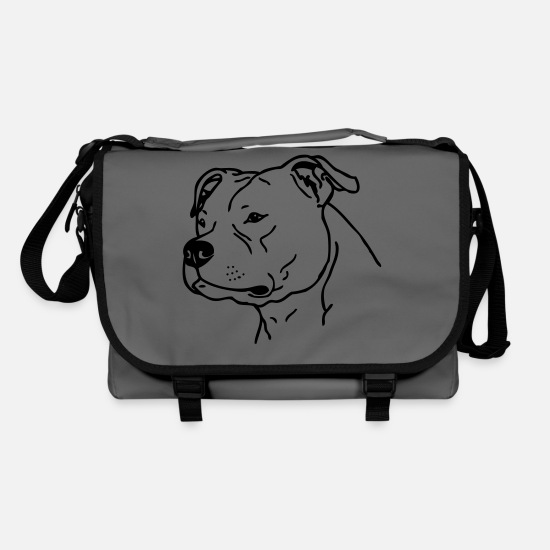 Stafford Bags & Backpacks - american stafford © www.dog-power.nl - Shoulder Bag graphite/black