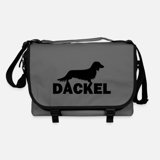 Dachshund Bags & Backpacks - dackel - Shoulder Bag graphite/black