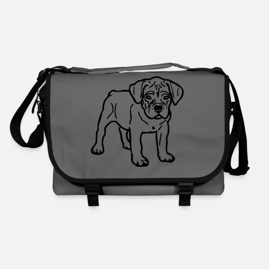 Heart Bags & Backpacks - Cane Corso © www.dog-power.nl - Shoulder Bag graphite/black