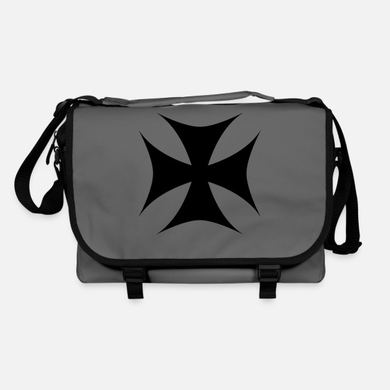 Templar Knights Bags & Backpacks - Templar Cross - Shoulder Bag graphite/black