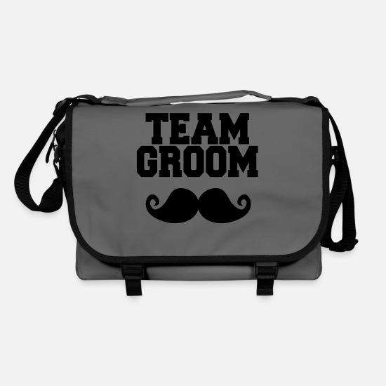 Marié Sacs et sacs à dos - Team Groom, Bachelor Party, Stag & Hen Nights - Sac bandoulière gris graphite/noir