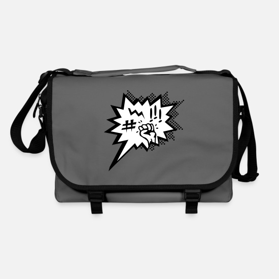 Speech Balloon Bags & Backpacks - Anger and rage - Shoulder Bag graphite/black