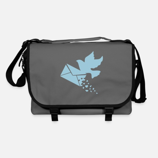 Post Bags & Backpacks - A carrier pigeon with a love letter - Shoulder Bag graphite/black