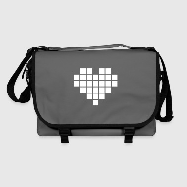 Pixel Love / pixel heart - Shoulder Bag