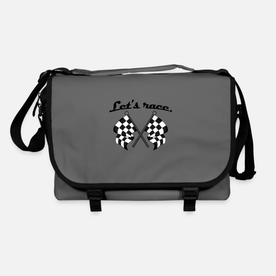 Gift Idea Bags & Backpacks - Let's race - Shoulder Bag graphite/black