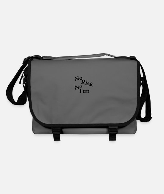 Black Stars Bags & Backpacks - No Risk No Fun - Shoulder Bag graphite/black