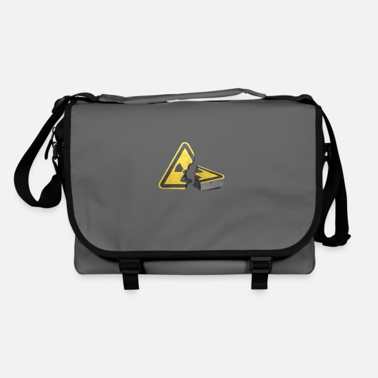 Symbol  Bags & Backpacks - Atomausstieg! Nuclear power, no thank you! - Shoulder Bag graphite/black