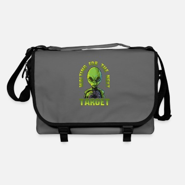 Aliens Alien head alien alien - Shoulder Bag