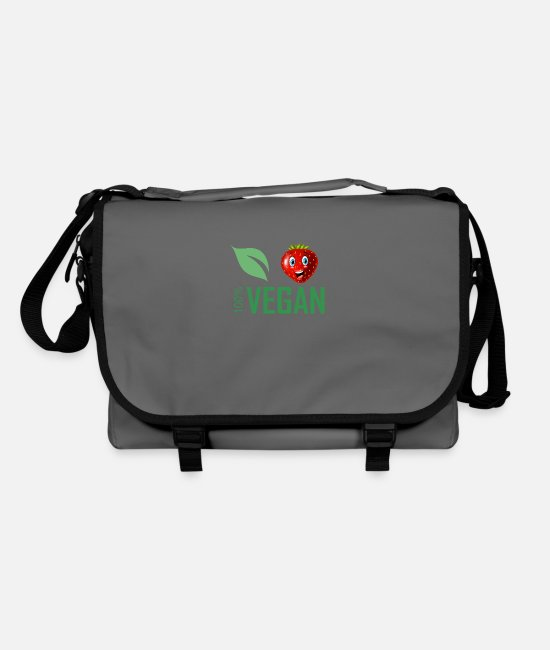 Vegetables Bags & Backpacks - 100% vegan fruits - Shoulder Bag graphite/black