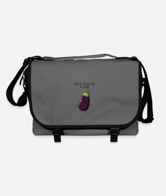 Burger Bags & Backpacks - Vegan Eggplant Dance Reggaeton - Shoulder Bag graphite/black