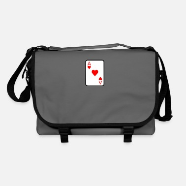 Casino Heart at speelkaart poker cadeau idee - Schoudertas