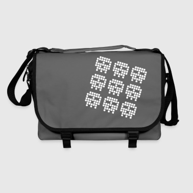 Geek gaming pixel skulls - Shoulder Bag