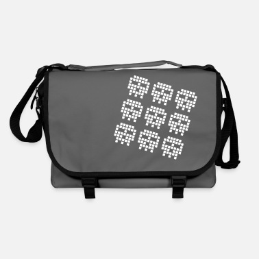 Retro gaming pixel skulls - Shoulder Bag