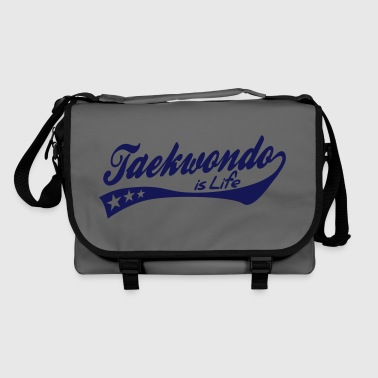 taekwondo is life - retro - Sac à bandoulière