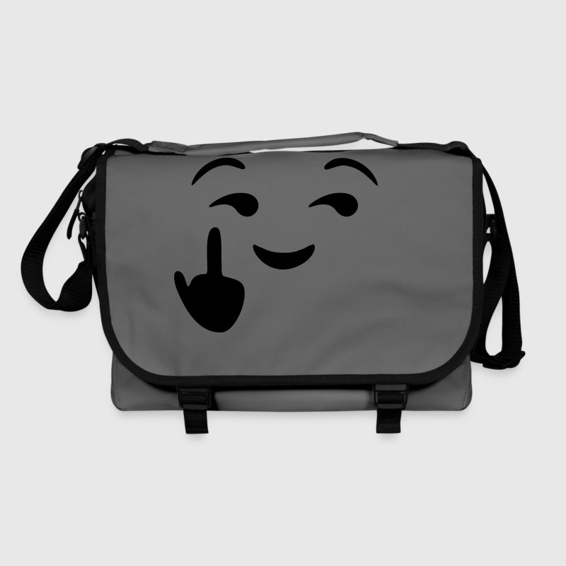 Fuck you emoji - emoticon - smiley - Sac à bandoulière