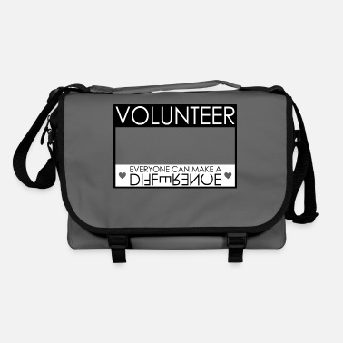 Name tag volunteer volunteer helper gift - Shoulder Bag