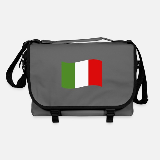 Italy Bags & Backpacks - Italy flag - Shoulder Bag graphite/black