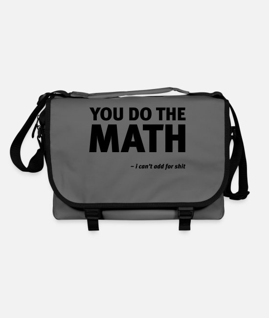 Quote Bags & Backpacks - Math add - Shoulder Bag graphite/black