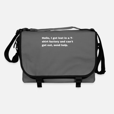 Text Black and White Text based funny T-shirt - Shoulder Bag