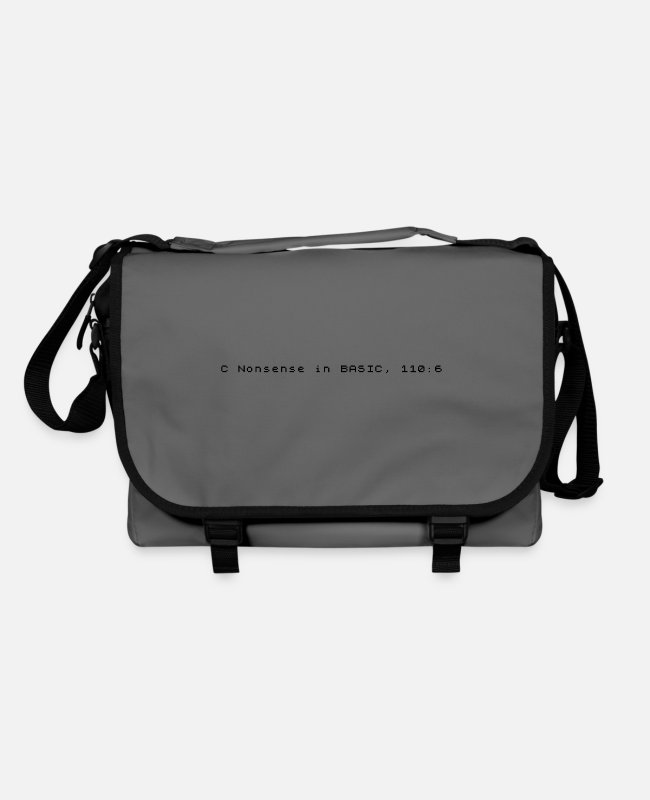 Basic Bags & Backpacks - C Nonsense in BASIC - Sinclair ZX Spectrum Error - Shoulder Bag graphite/black