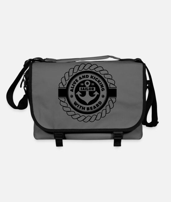 Heaven Bags & Backpacks - ALIVE AND KICKING SAILOR WITH BEARD - Shoulder Bag graphite/black