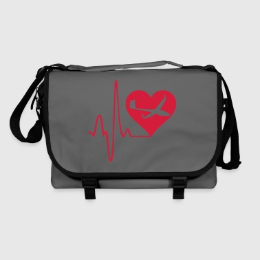 heartbeat gliding glider pilot - Shoulder Bag