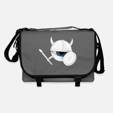 Holzschild white vEYEking 3 White Viking eye with weapons - Shoulder Bag