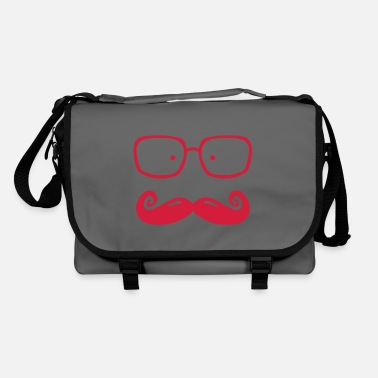 Moustache glasses and moustache - Shoulder Bag