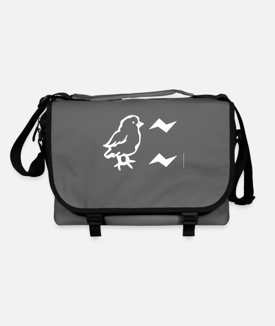 Chicken Coop Bags & Backpacks - Chicken say ciit cit - Shoulder Bag graphite/black
