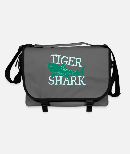 Killer Whale Bags & Backpacks - Fish Tiger Shark Danger Diver Gift - Shoulder Bag graphite/black