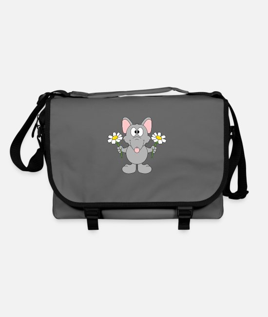 Rat Bags & Backpacks - Funny Rat - Flowers - Gift - Animal - Fun - Shoulder Bag graphite/black