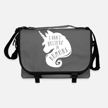 I don´t believe in humans - unicorn Bolsa de tela orgánica  29a52c1fd28