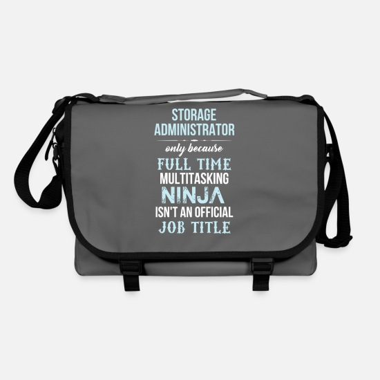 Storage Administrator Idea Gift Bags & Backpacks - Storage Administrator - Storage Administrator only - Shoulder Bag graphite/black