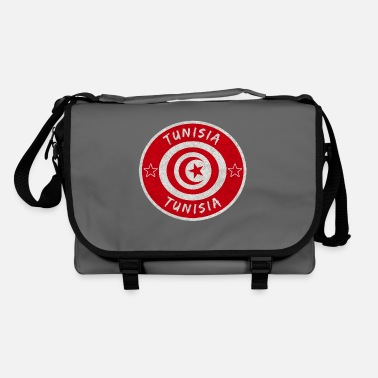 Sousse Tunisia vintage circle with national flag - Shoulder Bag