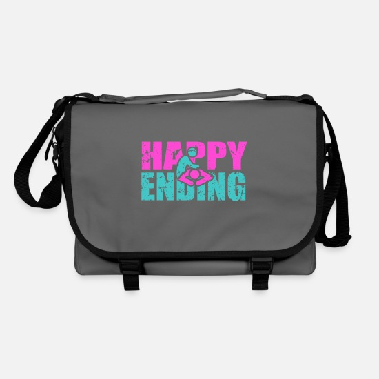 Ass Bags & Backpacks - Happy ending - Shoulder Bag graphite/black